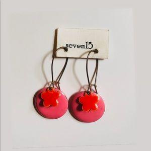 ☼4 for 20$☼ Pink Flower Earrings